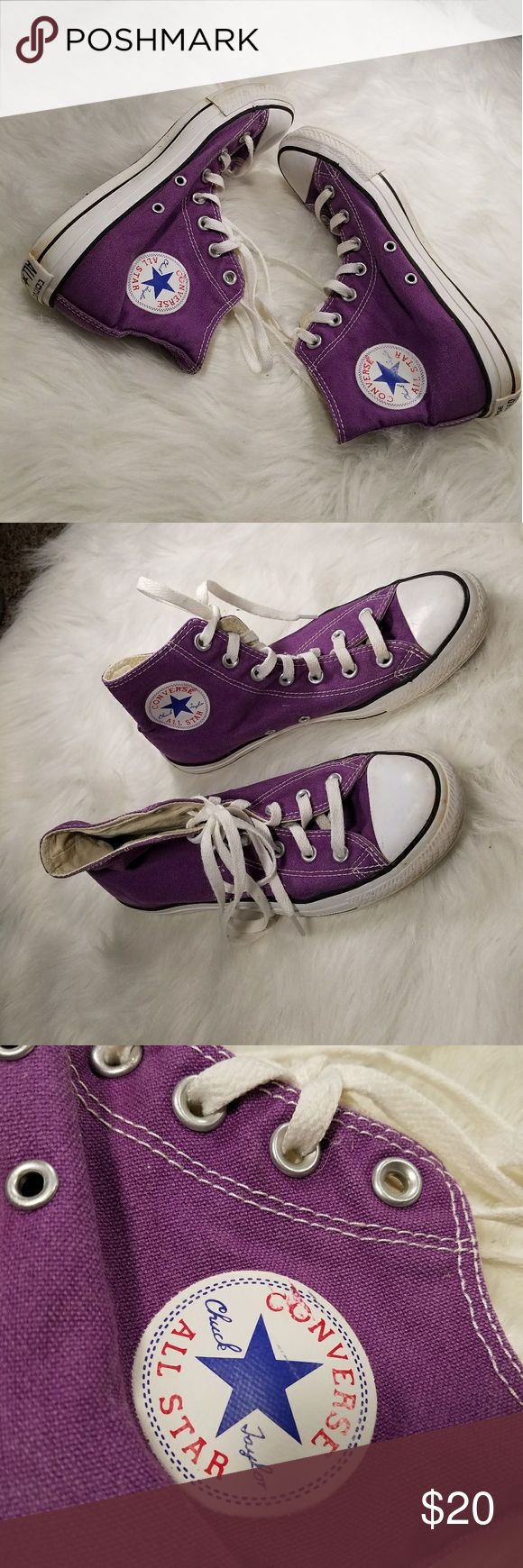 Converse high tops purple Converse high tops purple Converse Shoes Sneakers