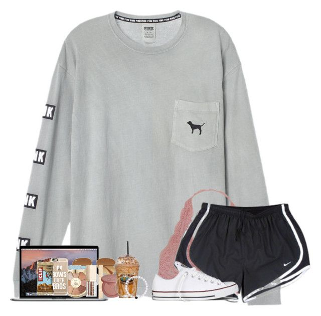 """""""My friends in La , they don't know where I've been for the past few years or so ..."""" by abigailcdunn ❤ liked on Polyvore featuring Humble Chic, NIKE, Converse, Ray-Ban, tarte, Stila, Casetify and Kendra Scott"""