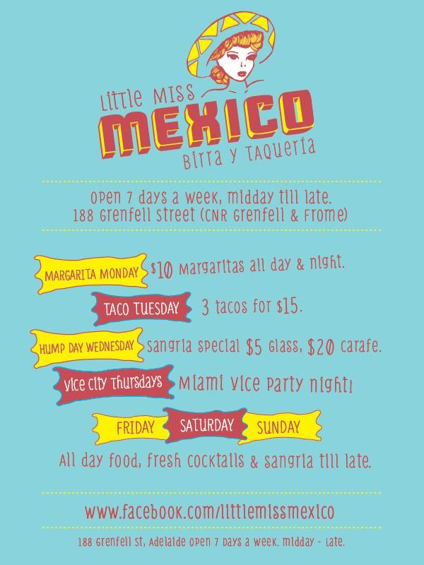 Little Miss Mexico #adelaide #nightlife #littlemissmexico #lmm #placetobe