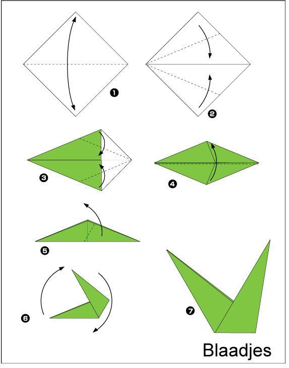 origami-Bloem-blaadjes