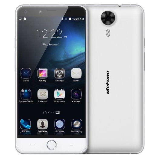 """Bestore® - Ulefone Be Touch 3 Escáner de huella digital Desbloquear Smartphone (Android 5.1 Lollipop, 5.5 """"FDD-LTE 4G, MTK6753 Octa-core Mali-T720, 3 GB de RAM 16 GB ROM, 5MP 13MP cámaras duales) Gris: Amazon.es: Electrónica"""