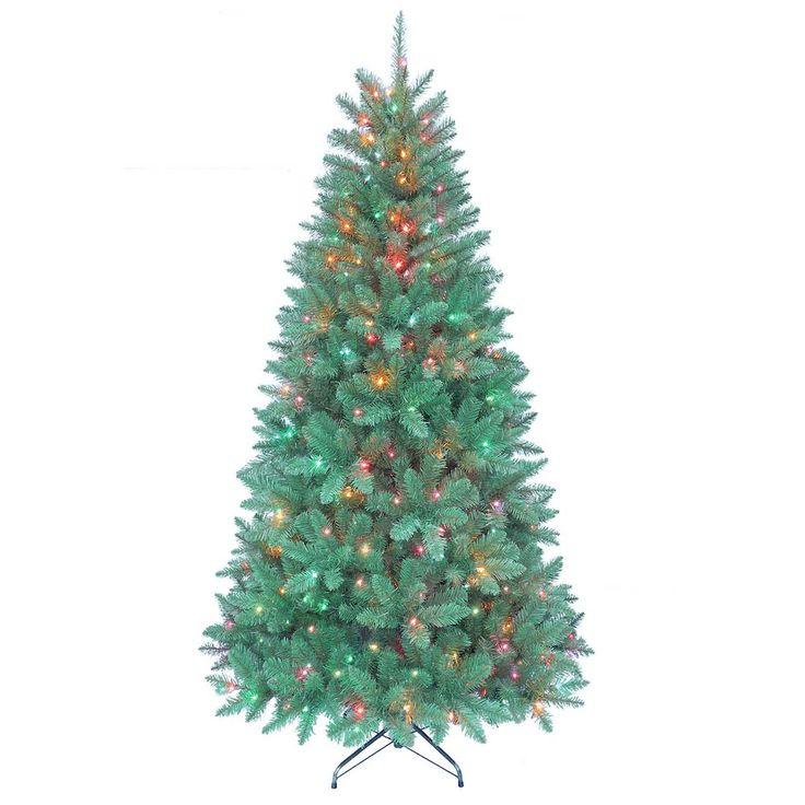 Kurt Adler 7-ft. Pre-Lit Color Point Pine Artificial Christmas Tree, Green