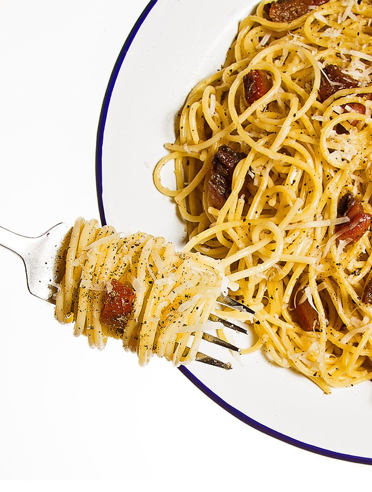Meet the love child of carbonara and amatriciana, an easy pasta you can whip up in less than 30 minutes.