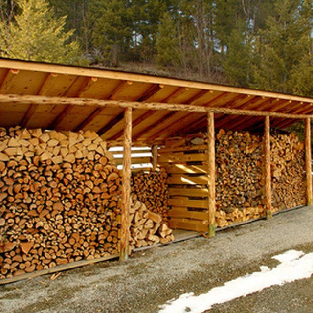 Choose a firewood shed design large enough to fit your needs.