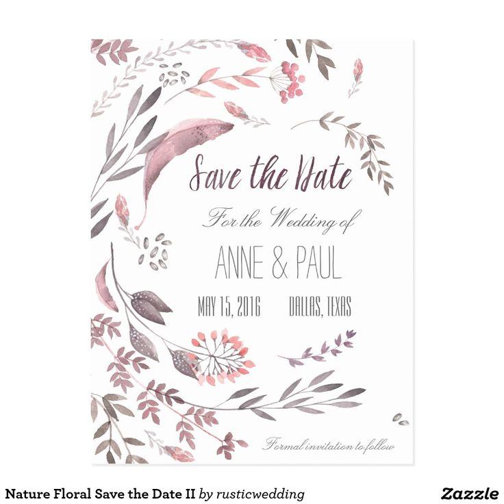Nature Floral Save the Date II