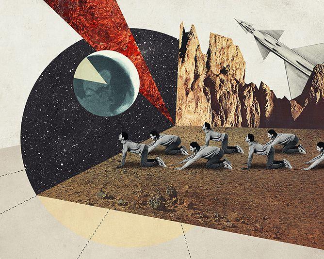 Homesick - Julien Pacaud • Illustration • Perpendicular Dreams