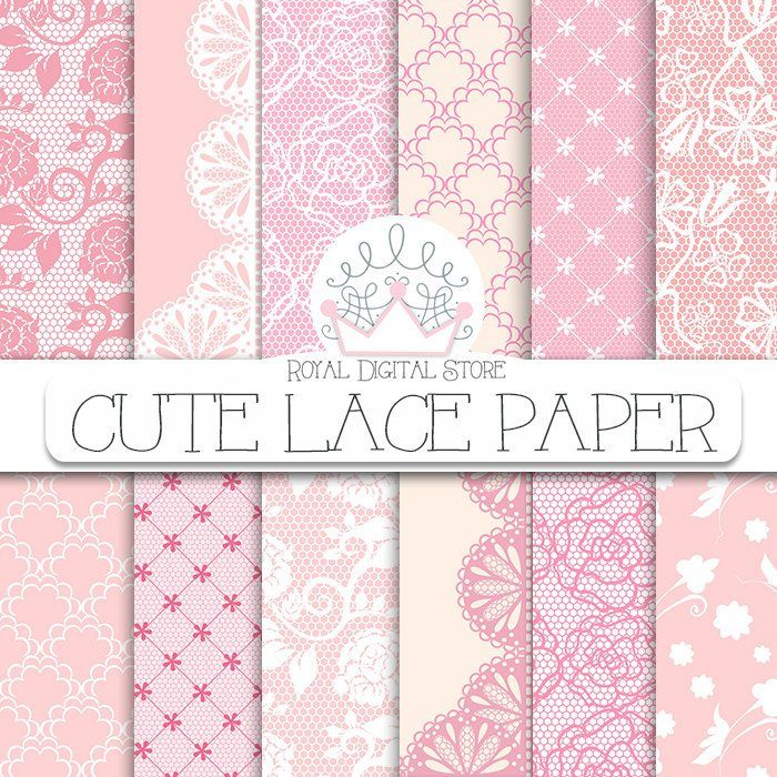 Lace Digital Paper Cute Lace Digital Paper With Lace