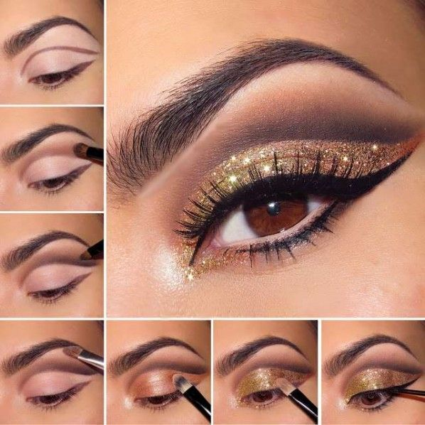 Glamorous Glitter Eye Makeup For NYE-02