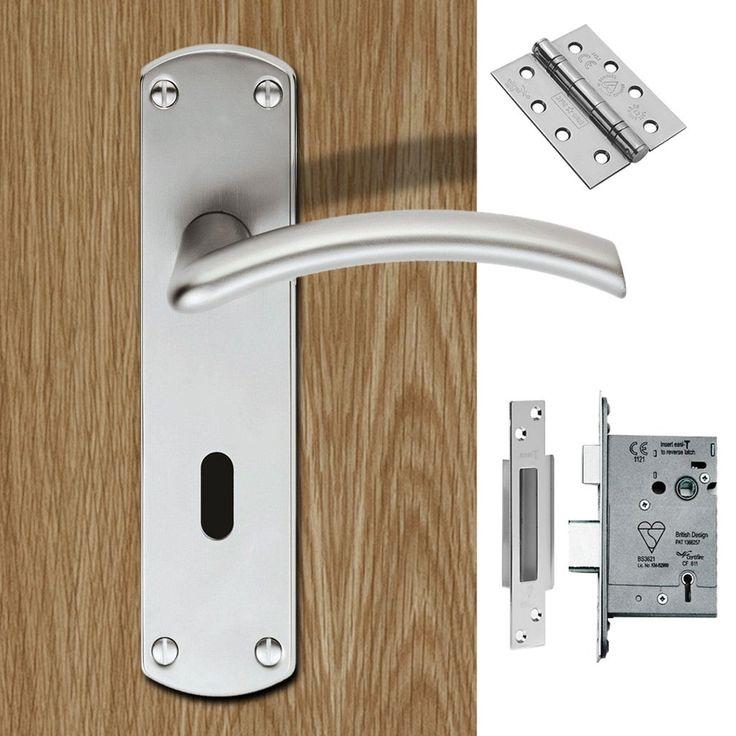 Serozzetta Tres SZC031SC Lever Lock Satin Chrome Handle Pack. #doorhandle&lock #lever&lock&hinges #moderndoorhandlepack