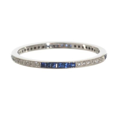 Diamond & sapphire eternity band. I would worry about losing the diamonds and sapphires! I love this though