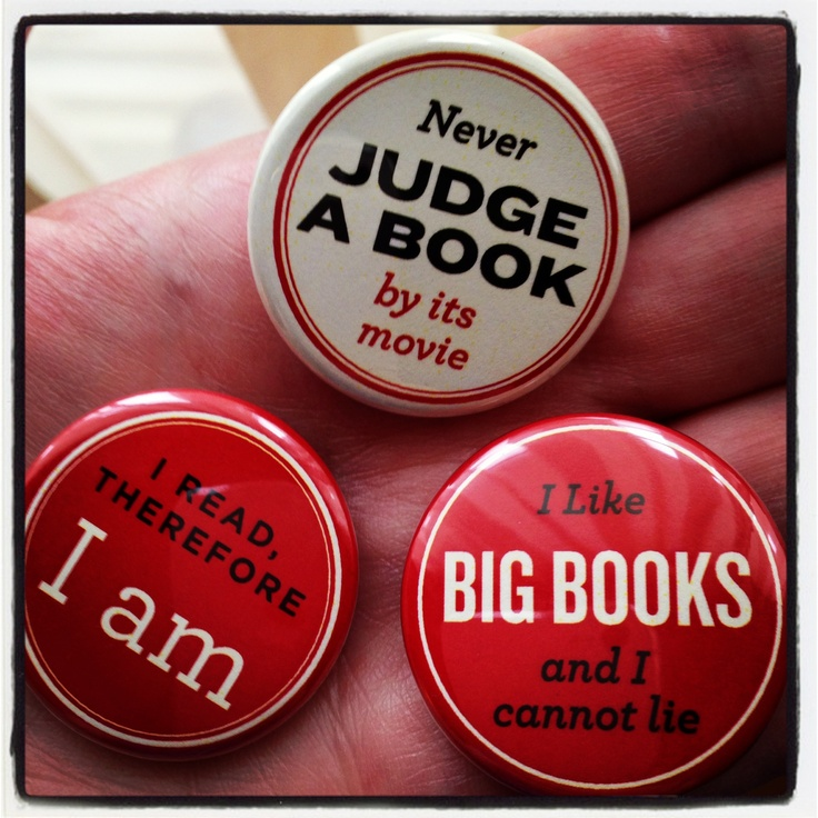 Book love. We have these pins at books-a-million!