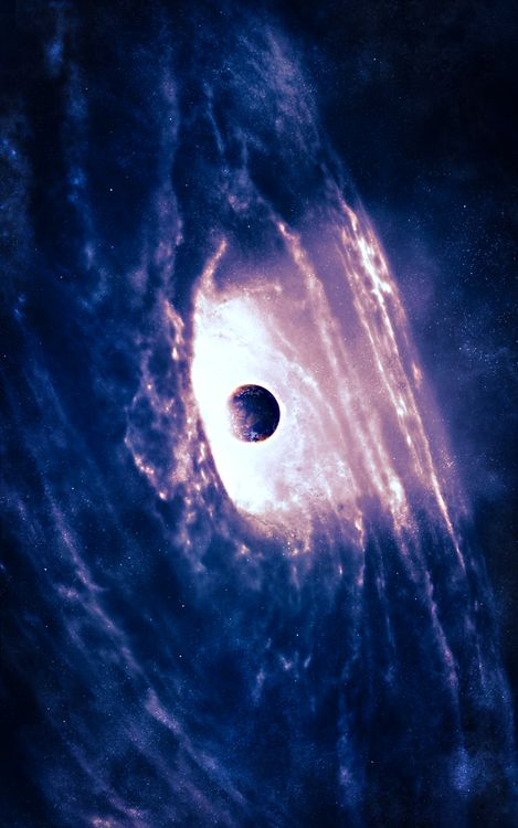 Black hole 0.0 I have always wondered what a black hole looked like and now I know. Don't know whether or not this is authentic, but it's an amazing image.