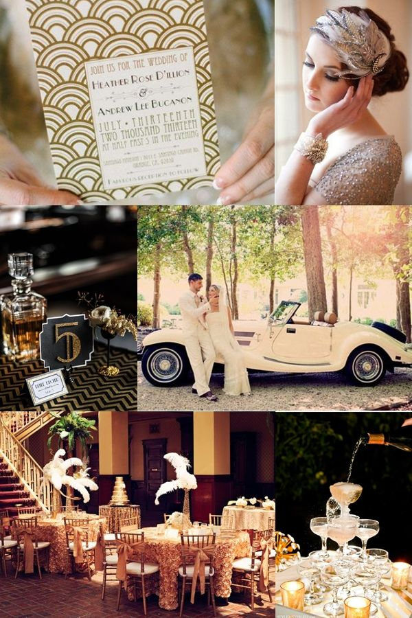 GREAT GATSBY WEDDING THEMES | Great Gatsby Glamour-