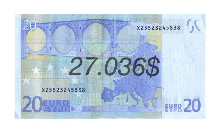 Ben Papyan 27.036$ 2013 money art, graffiti, bill, print, banknote, dollar, euro