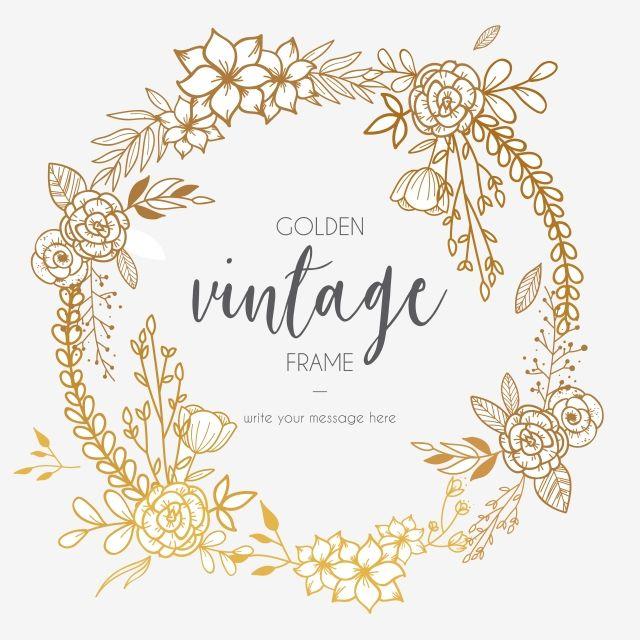 Milhoes De Imagens Png Fundos E Vetores Para Download Gratuito Pngtree Flower Frame Vintage Frames Wreath Drawing