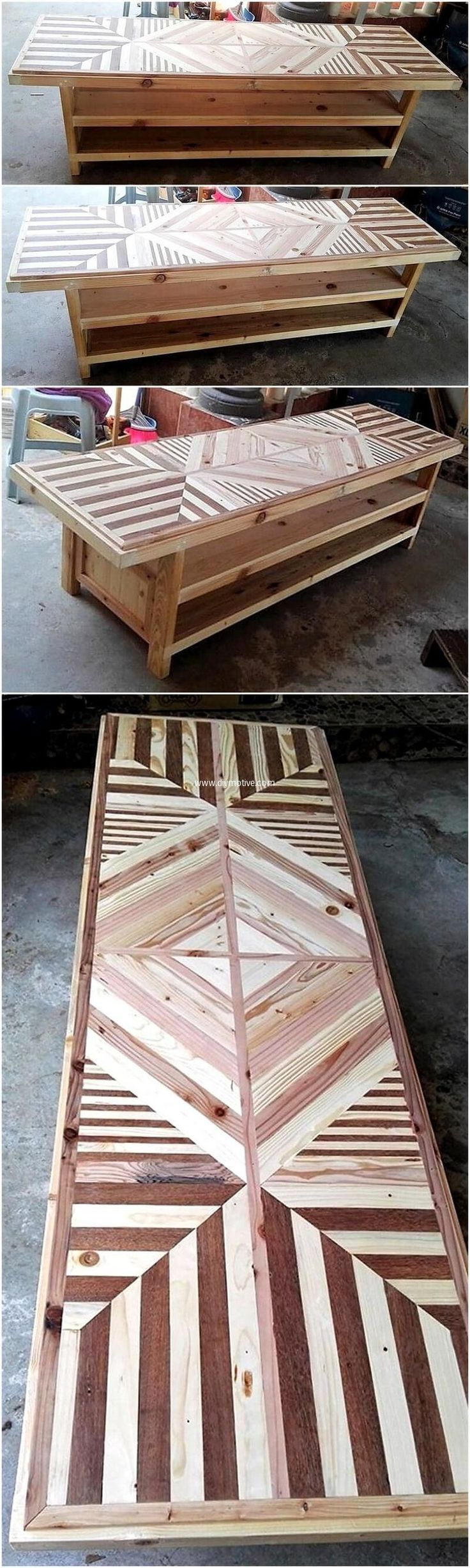 We are ready to come up with some amazing reshaping wood pallet furniture ideas here. Customizing is always in fashion and it is very smart to craft something that you can place at your unused space or a something of your domestic utility that you need on daily basis. Wood pallet table is attractive by its appearance and also an economical project as well. #palletfurnituretable