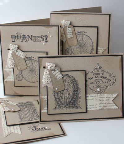2/1/2013; Heather Summers at 'Stamp with Heather' blog; Vintage Verses & Feeling Sentimental stamp sets