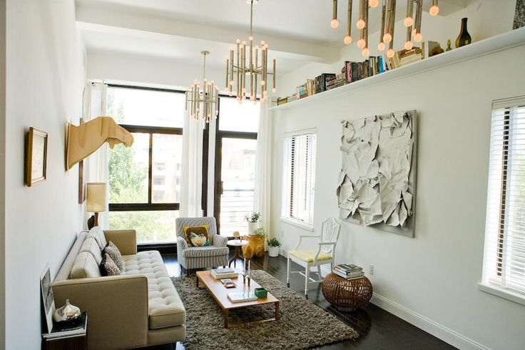 On 735 Dean St., Apt. 3B, texture surpasses color in this living room.