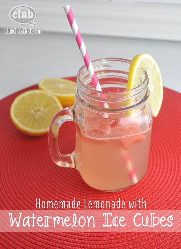 Receta para hacer una limonada con hielos de sandía, para refrescarte!