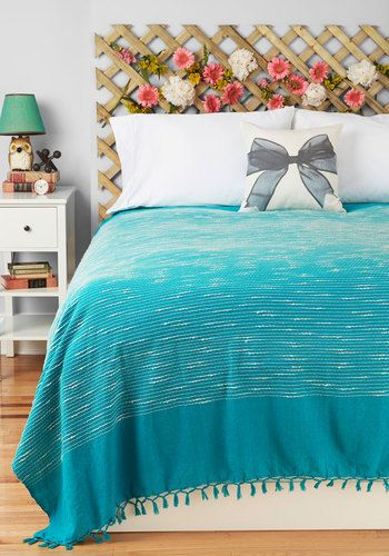 Sea of Dreams Bedspread in Full/Queen Size. Whether youve returned to the deck after a swim in the ocean or youve dried off following a dip in the pool, this bold bedspread beckons you to drift off into a nap with its refreshing style. #blueNaN
