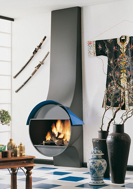 Best 25 modern wood burning stoves ideas on pinterest for Wood burning fireplace construction