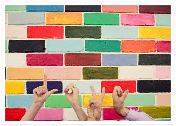 loving in colorColors Engagement, Colors Wall, Colors Bricks, Forget Colors