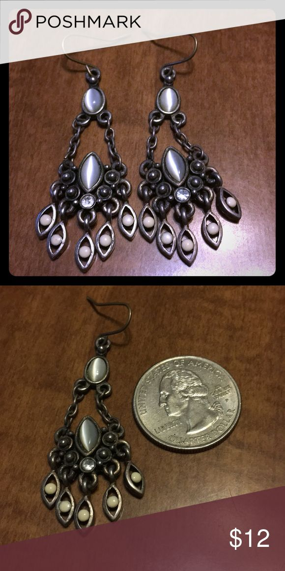 Moonstone chandler earrings Moonstone chandler earrings  Fishhooks  Disinfected with hydrogen peroxide Jewelry Earrings