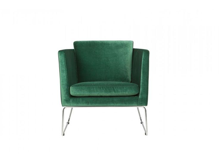 Fotel Clark CLASSIC VELVET 15 green tkanina zielona — Fotele Sits — sfmeble.pl