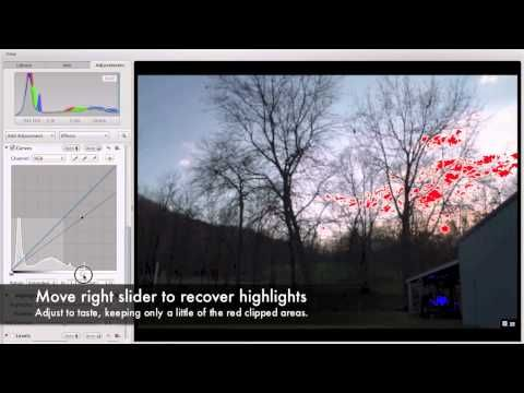 ▶ RAW Processing Aperture 3 Tutorial: Maximizing Dynamic Range of a Single Canon RAW Image - YouTube