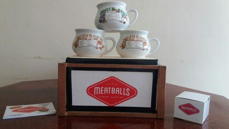 A empresa Meatballs acredita que estas canecas sao perfeitas para caldos e sopas.