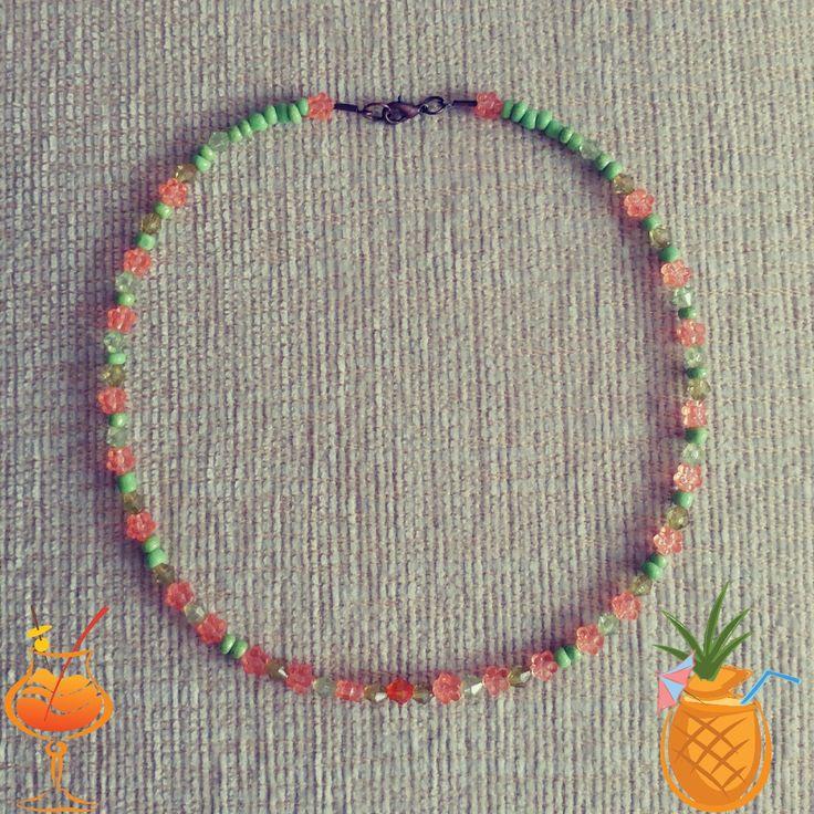 boncuk kolye, kolye, yaz kolyesi, necklace, takı, incik boncuk, ben yaptım, diy, el emeği, el yapımı, handmade, jewellery