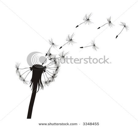Blowing dandelion clip art - photo#25