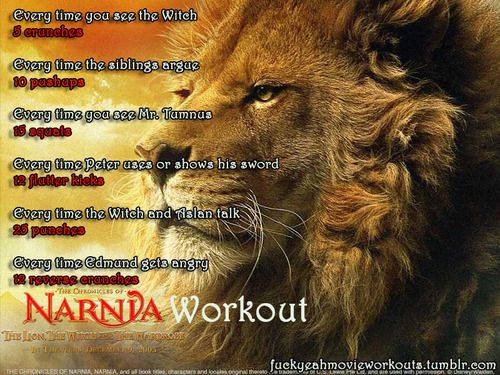 Narnia: The Lion, The Witch, and the Wardrobe Movie Workout!  Want to see more workouts like this one? Follow us here.