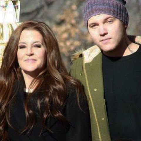 Lisa Marie and her son Benjamin Storm Keough at Graceland, January ...