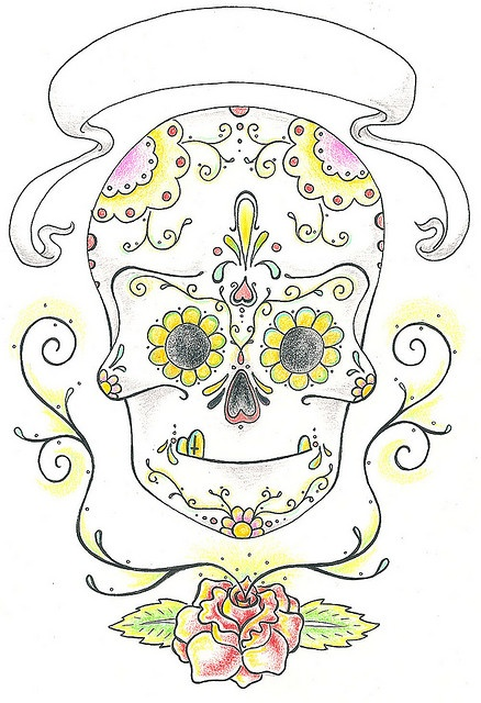 sugar skull, via Flickr.: Sugar Skull, Photo