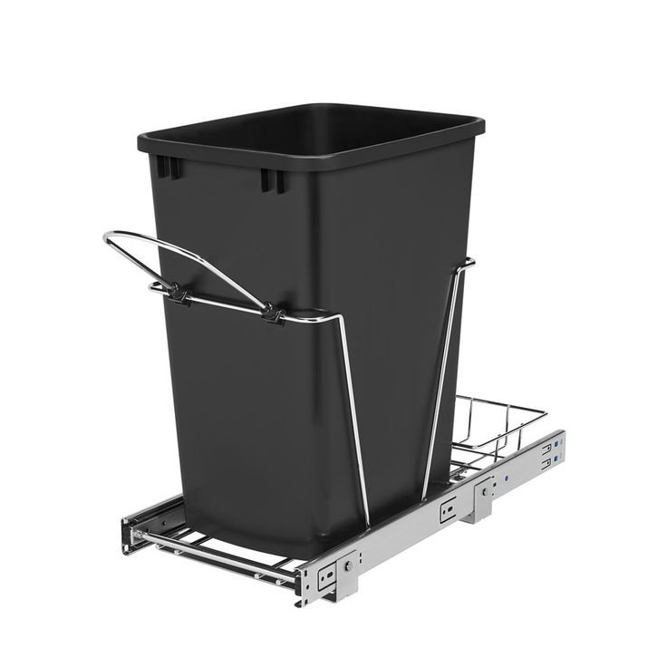 rev-a-shelf 35-quart plastic soft close pull out trash can