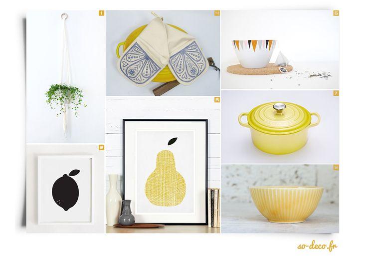 17 meilleures images propos de une cuisine pleine de for Accessoire deco jaune