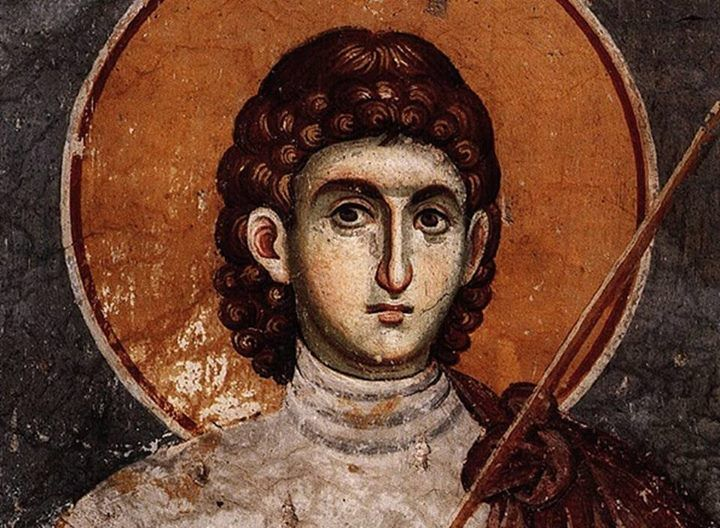 Icon from Protaton church, Mount Athos. Manuel Panselinos Protaton is a large triple-aisled basilica with narthex, dedicated to the Dormition of the Virgin. Built in the 10th century it was repaired in the reign of Andronikos II Palaiologos (1282-1328). The frescos of Macedonian School (circa 1300) have been attributed to Manuel Panselinos, who created a work that has gained world-wide acclaim.