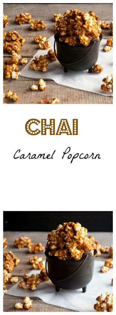 Chai Caramel Popcorn   Welcome fall with the flavors of cinnamin, cardamom, nutmeg, and clove   whitbitskitchen.com