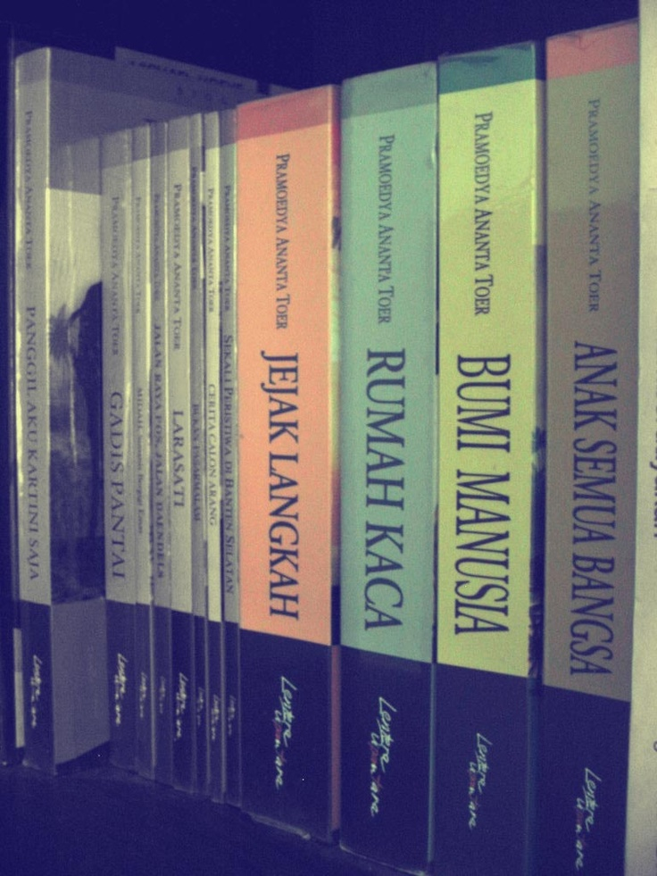 Buru Tetralogi, is a literary tetralogy written by Indonesian author Pramoedya Ananta Toer. It is composed of the novels This Earth of Mankind, Child of All Nations, Footsteps, and House of Glass.