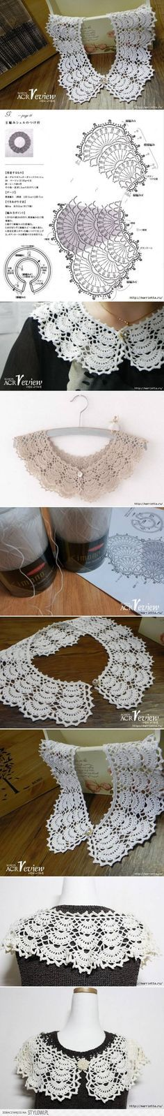 DIY Open Work Crochet Collar DIY Projects   UsefulDIY.c… na Stylowi.pl