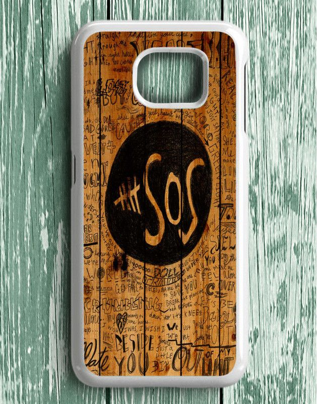 5 Second Of Summer Fans Quotes On Wood Samsung Galaxy S6 Edge Plus | Samsung S6 Edge Plus Case