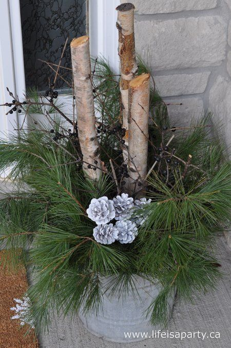 17 Best Images About Outdoor Christmas Arrangements On