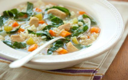 Chicken and Brown Rice Soup - use 1 pound chicken breast to make an easy, hearty, one-pot meal for 4.