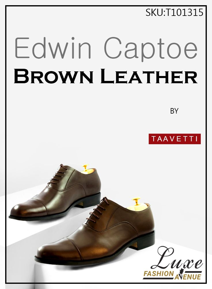 Edwin Captoe Brown Leather  BUY NOW: https://goo.gl/ZGHmEe   #Shoe #Loafer #Design #Genuine #Leather #Handcrafted #Formal #Premium