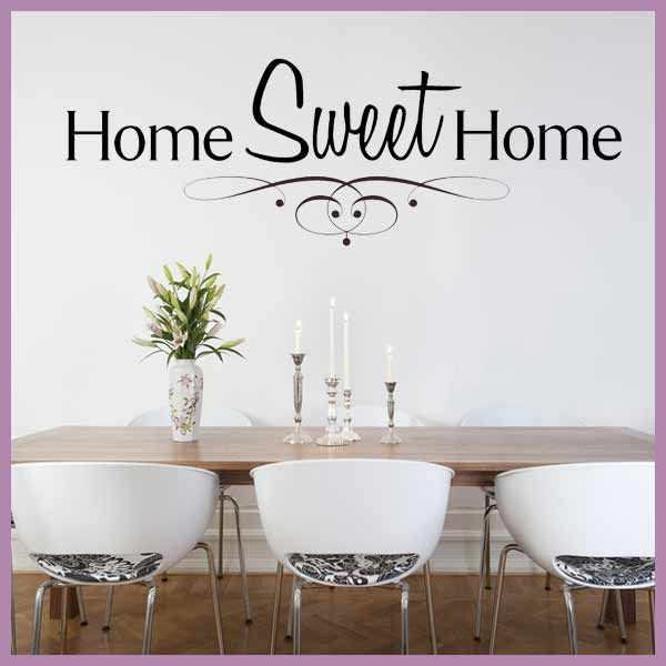 Lovely Home Sweet Home Wall Sticker Idea Part 64