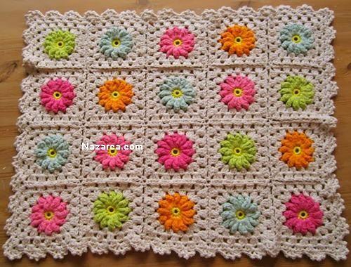 Tığ İşi Çiçekli Battaniye Motif Örneği Bebek Battaniyesi, diz örtüsü ya da evinizin dekorasyonunda farklı alanlarda kullanabileceğiniz tığ işi motif örgülü şık bir örnek arıyorsanız resimli anlatım…