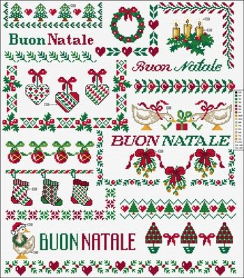DMC Free Cross Stitch Patterns - Christmas Motifs 3 simulation