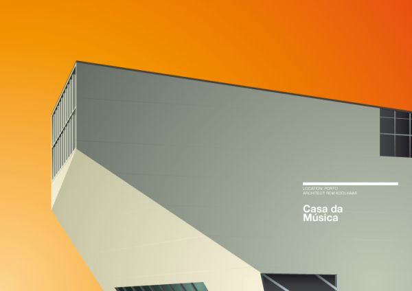 minimalist architecture poster by exergian