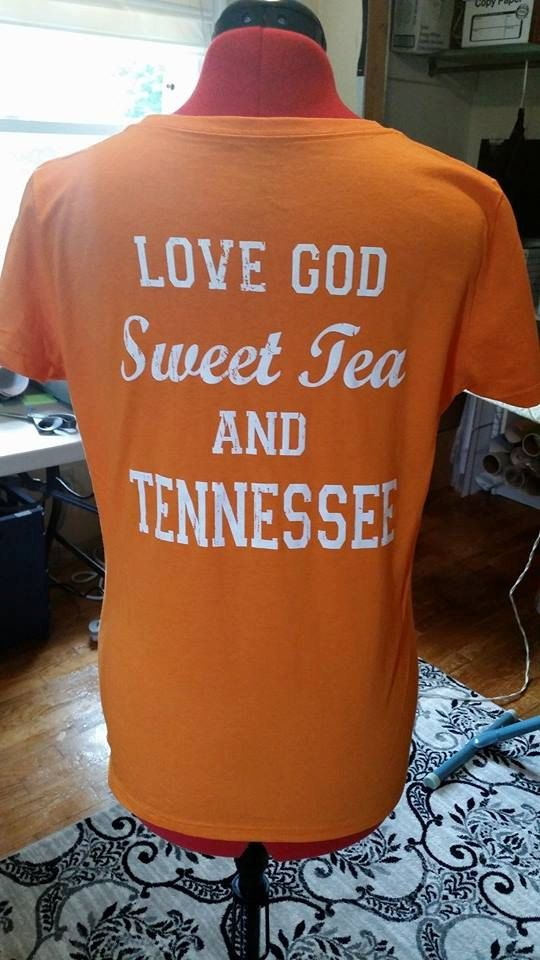 Love God, Sweet Tea and Tennessee T-Shirt on Etsy, $15.00